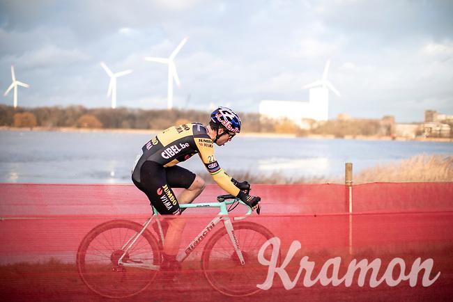 Wout Van Aert (BEL/Jumbo-Visma)<br /> <br /> Elite Men's Race <br /> Belgian National CX Championships<br /> Antwerp 2020
