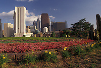 AJ4296, Philadelphia, downtown, skyline, Pennsylvania, Downtown skyline of Philadelphia from Franklin Town Park in the spring in the state of Pennsylvania.