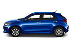 Car Driver side profile view of a 2021 KIA Rio S 5 Door Hatchback Side View