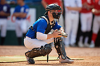 Joey Spence (24) of West Bend East High School in West Bend, WI during the Perfect Game National Showcase at Hoover Metropolitan Stadium on June 19, 2020 in Hoover, Alabama. (Mike Janes/Four Seam Images)