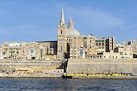 Blick von Sliema auf Valletta, Malta, Europa, Unesco-Weltkulturerbe