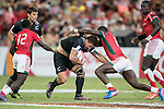 Trael Joass of New Zealand runs with the ball during the match New Zealand vs Kenya, Day 2 of the HSBC Singapore Rugby Sevens as part of the World Rugby HSBC World Rugby Sevens Series 2016-17 at the National Stadium on 16 April 2017 in Singapore. Photo by Victor Fraile / Power Sport Images