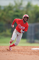 Philadelphia Phillies Roman Quinn (4) running the bases during an Instructional League game against the Toronto Blue Jays on September 30, 2017 at the Carpenter Complex in Clearwater, Florida.  (Mike Janes/Four Seam Images)