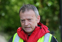 Pictured: Andrew Evans of West Brecon Mountain Rescue Team gives a short press conference at Tafarn Y Garreg, Powys, Wales UK. Wednesday 29 June 2016<br />Re: Rescuers have found a number of the 24 children who went missing the Brecon Beacons.<br />Dyfed-Powys Police said a Coastguard helicopter had found some the children, who are from St Albans, Hertfordshire.<br />The helicopter has landed and the crew are with the children, but their condition is not known.<br />The alarm was raised at about 13:00 BST after the groups went missing around Llyn y Fan Fach, near Abercraf.<br />The children are in their mid teens and were on the beacons as part of their Duke of Edinburgh Award.<br />Mark Moran from Central Beacons Mountain Rescue said his team had been in intermittent phone contact with the four groups of six children before the first group were found.