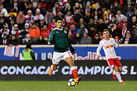 Harrison, NJ - Tuesday April 10, 2018: Alan Pulido during leg two of a  CONCACAF Champions League semi-final match between the New York Red Bulls and C. D. Guadalajara at Red Bull Arena. C. D. Guadalajara defeated the New York Red Bulls 0-0 (1-0 on aggregate).