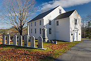 The German Lutheran Church (also known as the Old German Meeting House) in Waldoboro, Maine during the autumn months. Built in 1772, this church is one of the three oldest churches in Maine. The church was listed on the National Register of Historic Places in 1970.