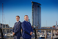Matthew Wiggal and Dean Brain, company directors of Fresh Estate and Letting Agents at Swansea Marina, south Wales, UK. Thursday 18 October 2018