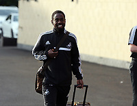 Wednesday 07 August 2013<br /> Pictured: Nathan Dyer departing from the Swansea Training ground.  <br /> Re: Swansea City FC travelling to Sweden for their Europa League 3rd Qualifying Round, Second Leg game against Malmo.