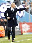 Real Madrid's coach Zinedine Zidane during La Liga match. April 16,2016. (ALTERPHOTOS/Acero)