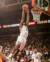 NWA Democrat-Gazette/ANTHONY REYES • @NWATONYR<br /> Alandise Harris, Arkansas senior, dunks against Tennessee in the first half Tuesday, Jan. 27, 2015 in Bud Walton Arena in Fayetteville.