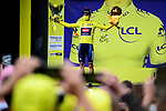 Race leader Mathieu Van Der Poel (NED) Alpecin-Fenix retains the Yellow Jersey at the end of Stage 4 of the 2021 Tour de France, running 150.4km from Redon to Fougeres, France. 29th June 2021.  <br /> Picture: A.S.O./Pauline Ballet   Cyclefile<br /> <br /> All photos usage must carry mandatory copyright credit (© Cyclefile   A.S.O./Pauline Ballet)