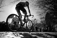 Carlos Barbero (ESP/Caja Rural) up the Kemmelberg cobbles<br /> <br /> 3 Days of West-Flanders 2015<br /> stage 2: Nieuwpoort - Ichtegem 184km