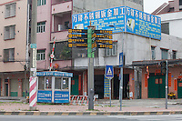 A usually busy intersection is seen absent of workers in Dongguan, Guangdong Province, China, 03 March 2015.