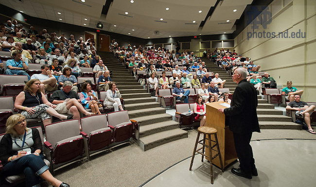 June 1, 2013; Rev. Tom Blantz, C.S.C. gives a presentation on Notre Dame history at 2013 Reunion.<br /> <br /> Photo by Matt Cashore/University of Notre Dame