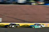 #18: Riley Herbst, Joe Gibbs Racing, Toyota Supra Monster Energy and #22: Austin Cindric, Team Penske, Ford Mustang MoneyLion