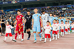Shanghai FC Defender Wang Shenchao (L) Jiangsu FC Midfielder Wu Xi (R) getting into the field with their teammates during the AFC Champions League 2017 Round of 16 match between Jiangsu FC (CHN) vs Shanghai SIPG FC (CHN) at the Nanjing Olympic Stadium on 31 May 2017 in Nanjing, China. Photo by Marcio Rodrigo Machado / Power Sport Images