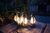 Lit Kerosene Lanterns at The Last Resort, Nepal