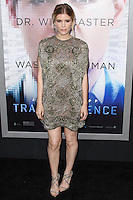 """WESTWOOD, LOS ANGELES, CA, USA - APRIL 10: Kate Mara at the Los Angeles Premiere Of Warner Bros. Pictures And Alcon Entertainment's """"Transcendence"""" held at Regency Village Theatre on April 10, 2014 in Westwood, Los Angeles, California, United States. (Photo by Xavier Collin/Celebrity Monitor)"""