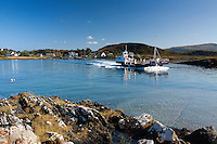 The Luing Ferry crossing the Cuan Sound between North Cuan on Seil and South Cuan on Luing, Argyll & Bute