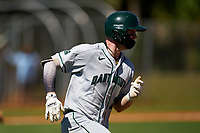 Dartmouth Big Green Kade Kretzschmar (24) runs to first base during a game against the Omaha Mavericks on February 23, 2020 at North Charlotte Regional Park in Port Charlotte, Florida.  Dartmouth defeated Omaha 8-1.  (Mike Janes/Four Seam Images)