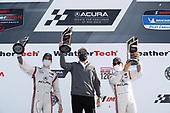 #7 Acura Team Penske Acura DPi, DPi: Helio Castroneves, Ricky Taylor, podium, Team President Tim Cindric