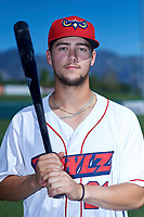 Orem Owlz shortstop Will Wilson (21) poses for a photo before a Pioneer League game against the Idaho Falls Chukars at The Home of the OWLZ on August 13, 2019 in Orem, Utah. Orem defeated Idaho Falls 3-1. (Zachary Lucy/Four Seam Images)
