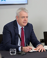 First Minister for Wales Carwyn Jones signs the Bay City Region deal, at the Liberty Stadium, Swansea, Wales, UK. Monday 20 March 2017.