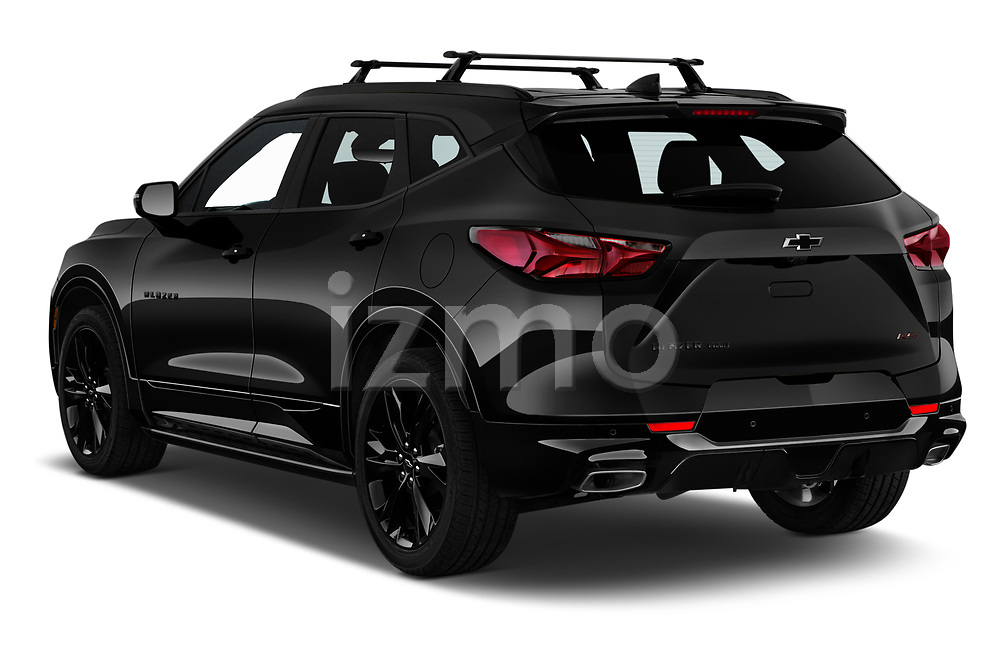 Car pictures of rear three quarter view of 2020 Chevrolet Blazer RS 5 Door SUV Angular Rear