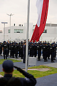 Mexico City, Mexico<br /> June 16, 2008<br /> <br /> (L-R) Secretary of Public Security Genaro Garcia Luna and Mexico's President Felipe Calderon tour the new high-tech federal police center. The first of ten scheduled to open around the country.