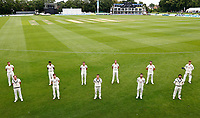 Kent's makeshift team comprising mainly of second XI players pose for a photo during Kent CCC vs Sussex CCC, LV Insurance County Championship Group 3 Cricket at The Spitfire Ground on 14th July 2021
