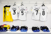 Kristoffer Nordfeldt, Martin Olsson, Mike van der Hoorn, Jefferson Montero and Leroy Fer of Swansea City shirts hand prior to the Sky Bet Championship match between Millwall and Swansea City at The Den in London, England. September 1, 2018