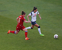 Rosella Ayane of Tottenham and Emma Mitchell of Reading during Tottenham Hotspur Women vs Reading FC Women, Barclays FA Women's Super League Football at the Hive Stadium on 7th November 2020