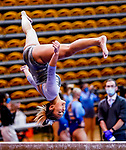February 19, 2021: North Carolina's Emery Summey competes on the beam during the 2nd Annual George McGinty Alumni Meet at the SECU Arena at Towson University in Towson, Maryland. Scott Serio/Eclipse Sportswire/CSM