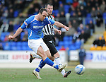 St Johnstone v Dunfermline....25.02.12   SPL.Lee Croft makes it 3-1.Picture by Graeme Hart..Copyright Perthshire Picture Agency.Tel: 01738 623350  Mobile: 07990 594431