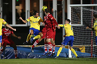Charlie Edwards of Wingate & Finchley scores the second goal for his team during Hornchurch vs Wingate & Finchley, Pitching In Isthmian League Premier Division Football at Hornchurch Stadium on 6th October 2020