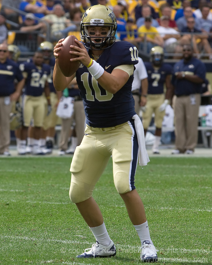 Pitt quarterback Trey Anderson . The Pitt Panthers beat the Maine Black Bears 35-29 at Heinz Field, Pittsburgh, PA on September 10, 2011.