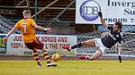 Sofien Moussa with a two footed lunge on Chris Cadden