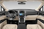Stock photo of straight dashboard view of 2020 Lincoln Nautilus Base 5 Door SUV Dashboard