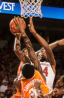 NWA Democrat-Gazette/ANTHONY REYES • @NWATONYR<br /> Michael Qualls, Arkansas junior, shoots against Tennessee Tuesday, Jan. 27, 2015 in Bud Walton Arena in Fayetteville. The Razorbacks won 69-64.