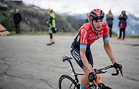 Dylan Teuns (BEL/Bahrain - Victorious) up the finale towards La Plagne (HC/2072m/17.1km@7.5%) <br /> <br /> 73rd Critérium du Dauphiné 2021 (2.UWT)<br /> Stage 7 from Saint-Martin-le-Vinoux to La Plagne (171km)<br /> <br /> ©kramon