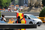 View of the monument to the victims of Covid19 - Coronavirus during the demonstration of the residents of Madrid against the government during the health crisis due to the Covid-19 virus pandemic - Coronaviruss. May 23,2020. (ALTERPHOTOS/Alejandro de Dios)