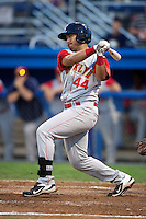 Brooklyn Cyclones outfielder Stefan Sabol #44 during a game against the Batavia Muckdogs at Dwyer Stadium on July 27, 2012 in Batavia, New York.  Batavia defeated Brooklyn 2-0.  (Mike Janes/Four Seam Images)