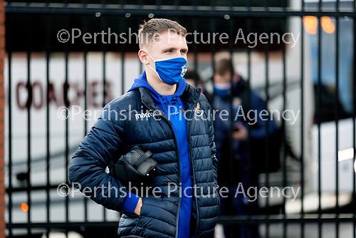 St Mirren v St Johnstone…19.12.20   St Mirren Park      SPFL<br />St Johnstone captain Jason Kerr arrives at St Mirren Park<br />Picture by Graeme Hart.<br />Copyright Perthshire Picture Agency<br />Tel: 01738 623350  Mobile: 07990 594431