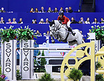 OMAHA, NEBRASKA - MAR 31: Laura Kraut rides Zeremonie during the FEI World Cup Jumping Final II at the CenturyLink Center on March 31, 2017 in Omaha, Nebraska. (Photo by Taylor Pence/Eclipse Sportswire/Getty Images)