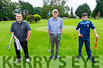 Taking part in the Kerry Mens Pitch & Putt Strokeplay Championships tt the Tralee Pitch and Putt on Sunday. L to r: Jason O'Connor (Deerpark), Fergus Keane (Listowel) and Tom Cronin (Deerpark).