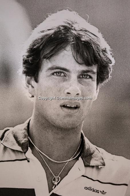 August 11, 1981, Netherlands, Scheveningen,  Dutch National Championships, Eric Wilborts (NED) <br /> Photo: Tennisimages/Henk Koster