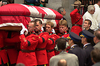 Montreal (qc) CANADA - Oct 3rd 2000 file Photo- Funeral of former Canadien Prime Minister Pierre Eliott Trudeau : Sacha Trudeau