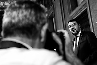 Matteo Salvini Lega Nord Party<br /> Rome August 28th 2019. Quirinale. Consultation with the President of the Republic for the new Government day two.<br /> Foto  Samantha Zucchi Insidefoto