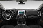 Stock photo of straight dashboard view of 2020 GMC Sierra Denali 4 Door Pick-up Dashboard