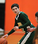 James Sandoval plays during a boys basketball game between Bishop Manogue and Douglas High in Minden, Nev., on Thursday, Dec. 22, 2011..Photo by Cathleen Allison
